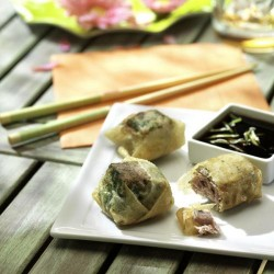 Bocades de tonyina amb salsa de llima i soja