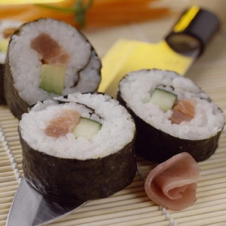 Makisushi de salmón y atún