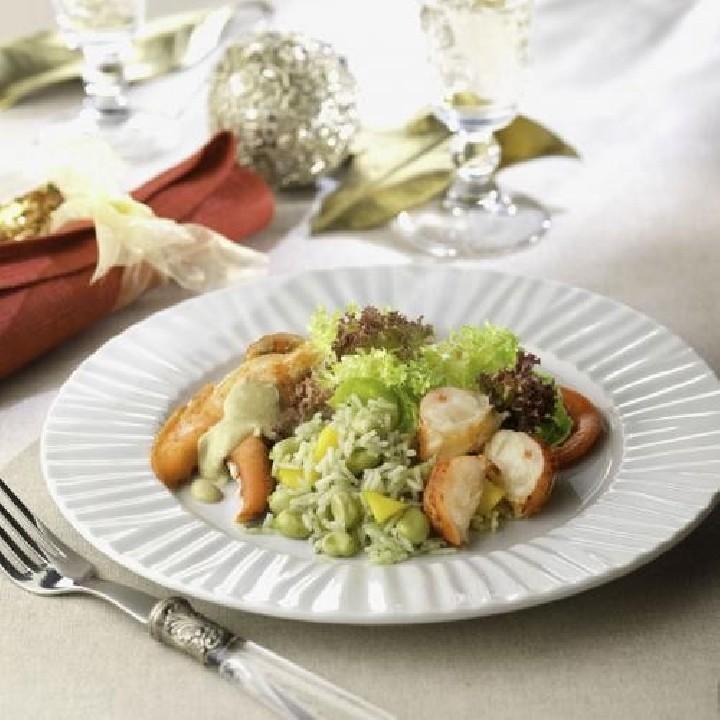 Ensalada de bogavante con salsa especial la Sirena