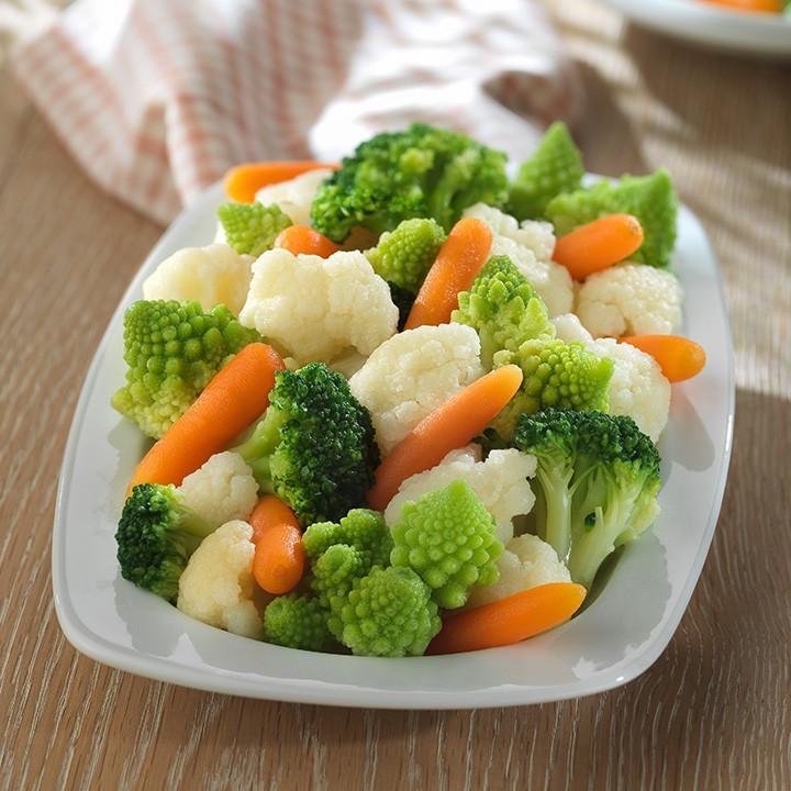 Coliflor, romanesco, bròquil i pastanaga
