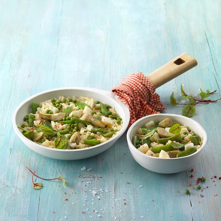 Arròs saltat amb verdures i sípia
