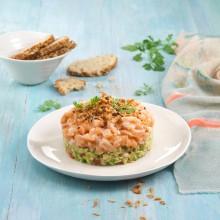 Tartar de salmón con guacamole