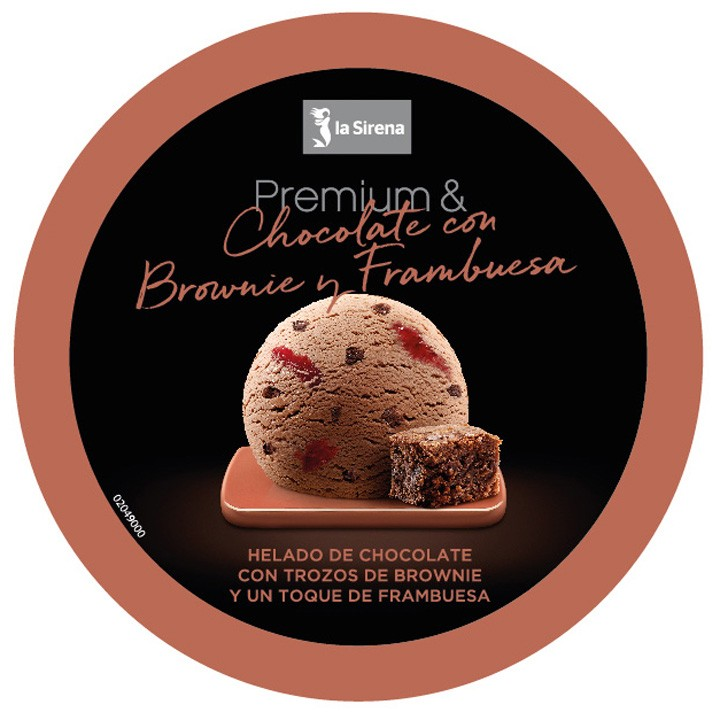 Tarrina chocolate frambuesas y brownie Premium