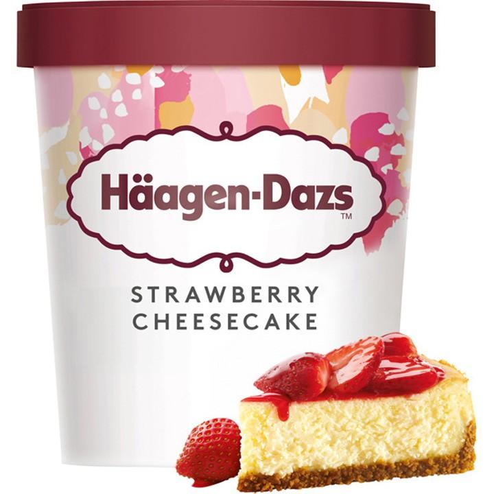 Tarrina strawberry cheesecake H. Dazs