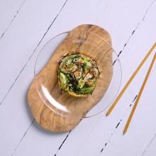 Saltat oriental de quinoa amb verdures