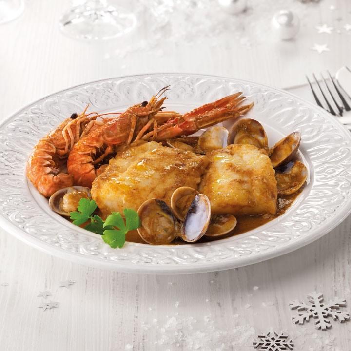 Bacalao con chutney de zanahoria