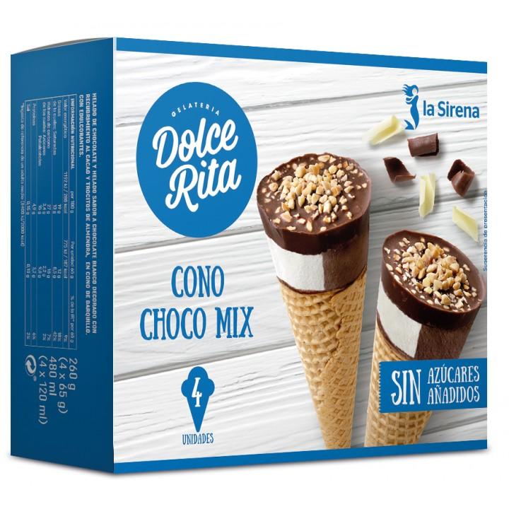 Conos helado chocolates Sin Azúcares Añadidos
