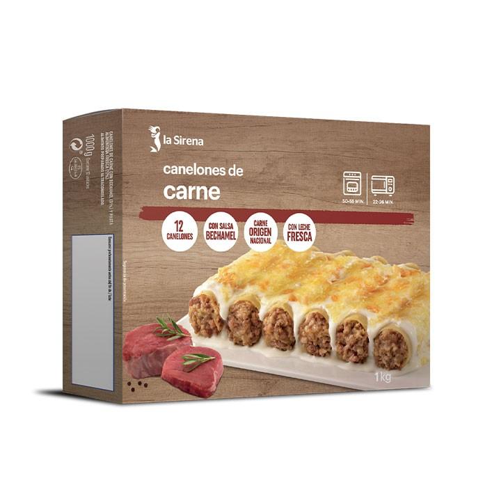 Canelones de carne bechamel 12 u
