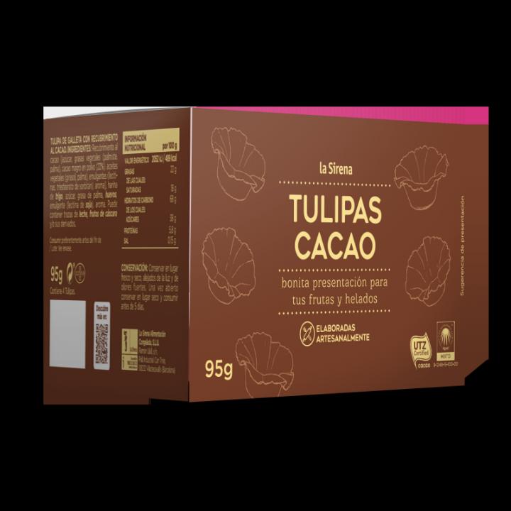 Tulipas al cacao