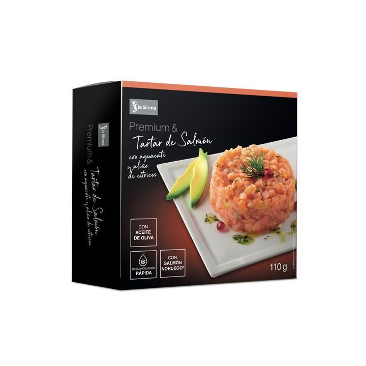 Tartar de salmón con aliño Premium
