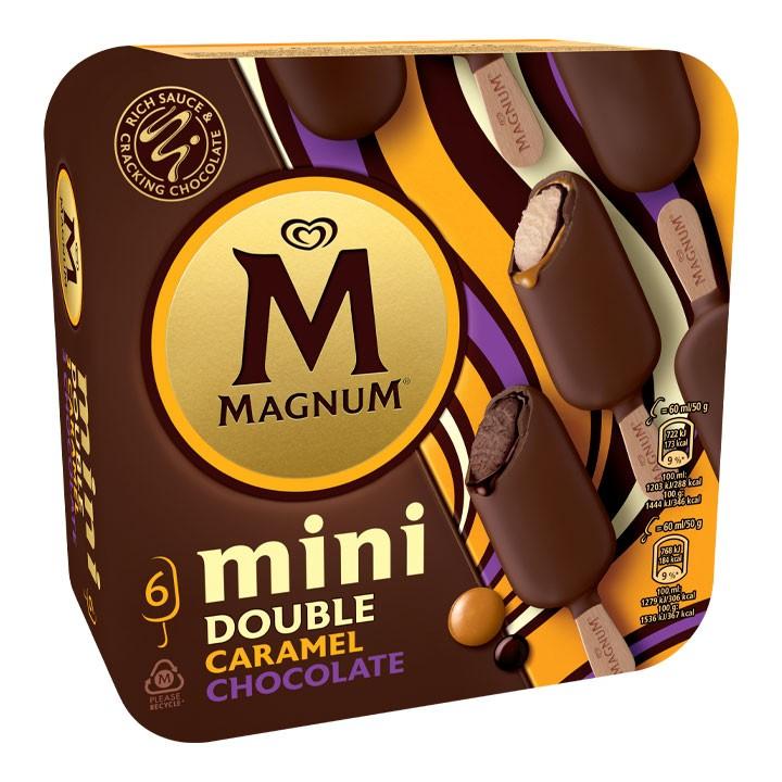 Magnum mini bombó double caramel i xocolata